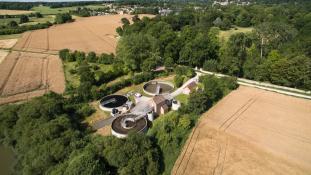 Vue aérienne de la Station d'épuration de Montfort-l'Amaury