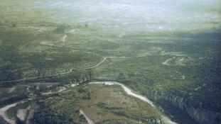 vue aérienne Chassezac
